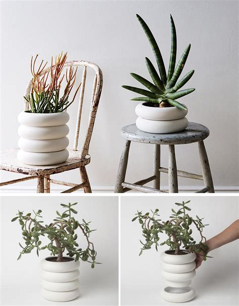 White Modern Planters by Ceramic Porcelain Planters Reversadermcream