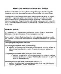 lesson plan template math sle math lesson plan template 9 free documents