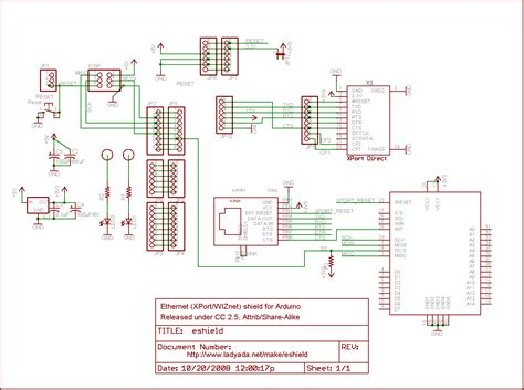 ethernet schematic diagram arduino nano and ethernet shield