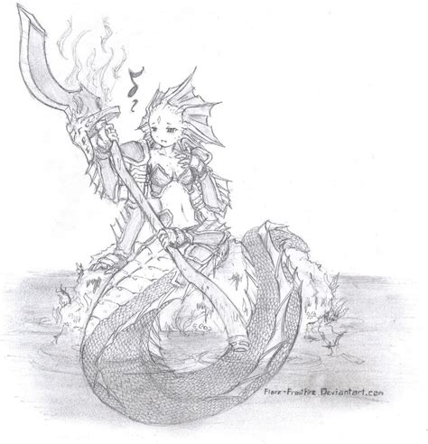 slithice the naga siren by fiore frostfire on deviantart