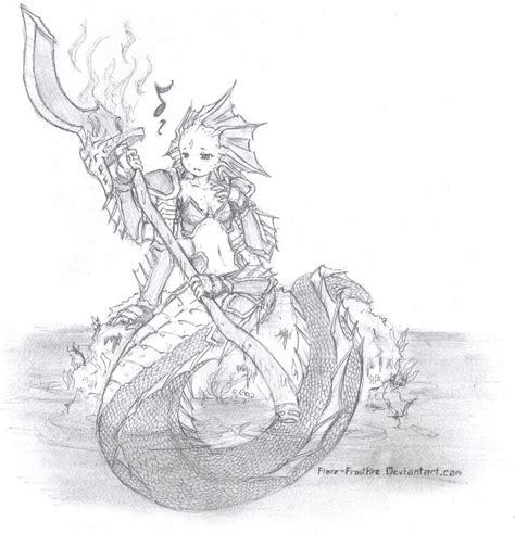 slithice the naga siren by fiore frostfire on deviantart