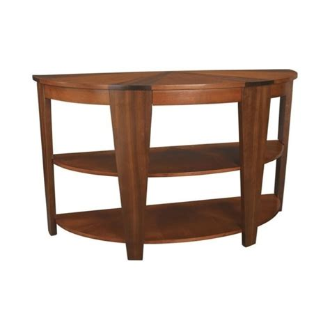 walnut sofa table hammary oasis demilune sofa table in cherry walnut t2003489 00