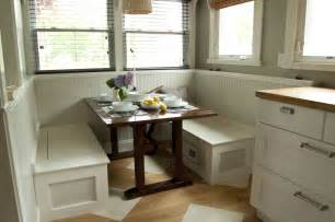 Breakfast Nook Tables by Small Custom Breakfast Nook Set With White Wood Storage