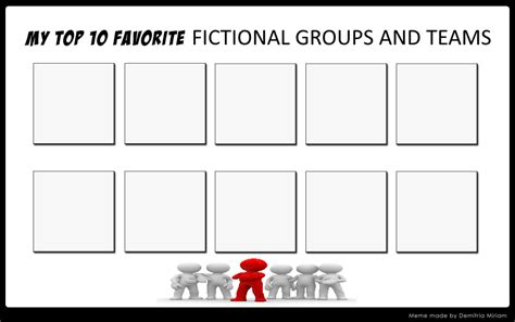 popular meme templates top 10 favorite fictional groups and teams meme by