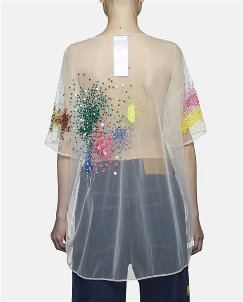 lyst ashish oversized sequined organza top