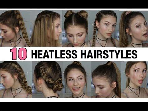 heatless hairstyles youtube 10 heatless hairstyles youtube