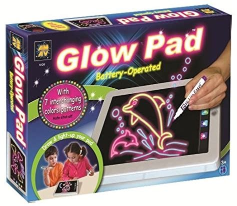light up drawing board amav portable high tech tablet sized glow pad light up