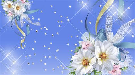 glitter wallpapers of flowers blue and white flower wallpaper 7 wide wallpaper