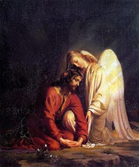 jesus comforted   angel   garden  gesthemane