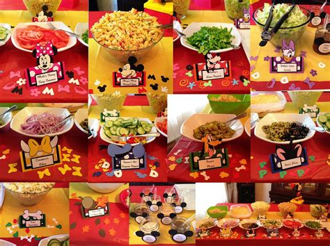 great ideas parties 2 mickey mouse clubhouse food table label tent cards