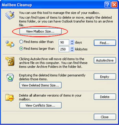 Office 365 Mail Purdue Conserving Space In Outlook 2007 Engineering Computer