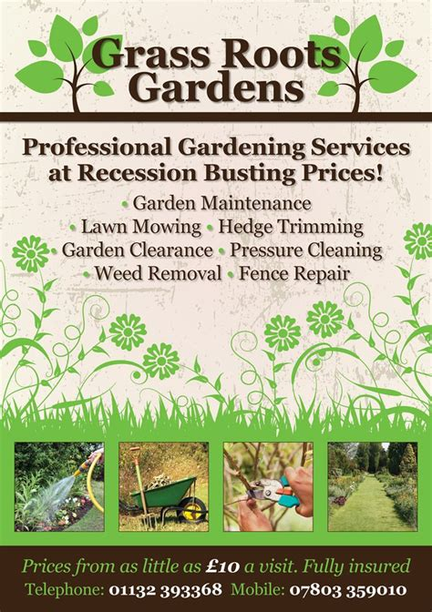 flyer templates gardening gardening flyer design by www flyer designers co uk