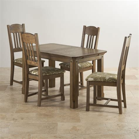 Solid Oak Extending Dining Table And 4 Chairs Manor House Extending Dining Set In Oak Table 4 Chairs