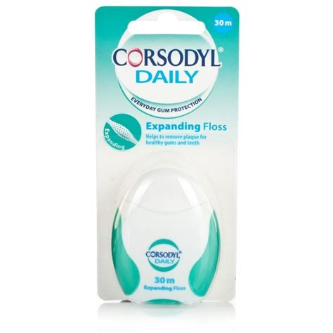 Expandable Floss corsodyl daily expanding floss 30m ebay
