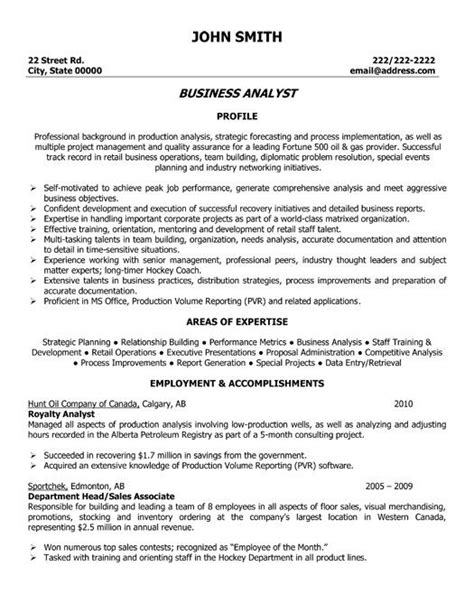 Click Here To Download This Business Analyst Resume Template Http Www Resumetemplates101 Com Business Resume Template