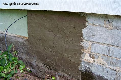 parging basement walls parging a foundation wall outdoors