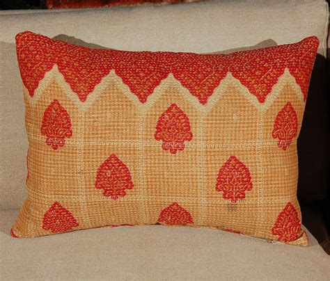 Vintage Kantha Pillows by Vintage Kantha Cloth Pillows At 1stdibs