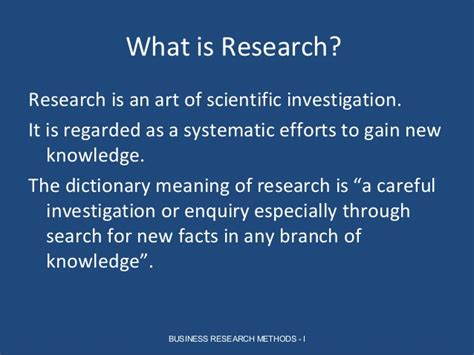 Definition Of Mba In by Meaning And Nature Of Research Parakramesh Jaroli Mba Rm