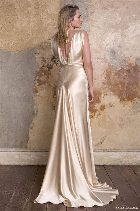 Vintage Silk Wedding Dresses by Sally Lacock Vintage Inspired Wedding Dress Collection