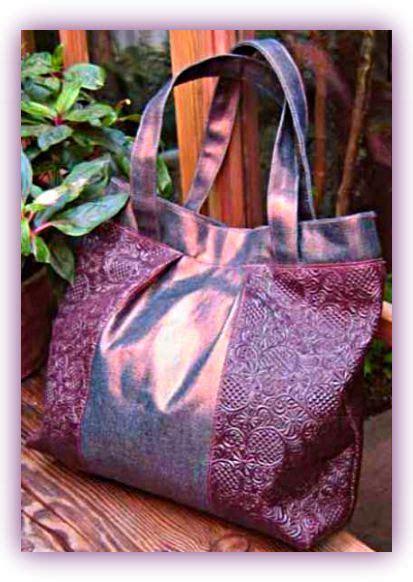 Denim Patchwork Bag Patterns Free - burnished denim bag free pdf sewing pattern seams