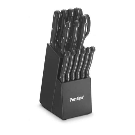 Ergonomic Kitchen Knives prestige 15 piece knife block set iwoot