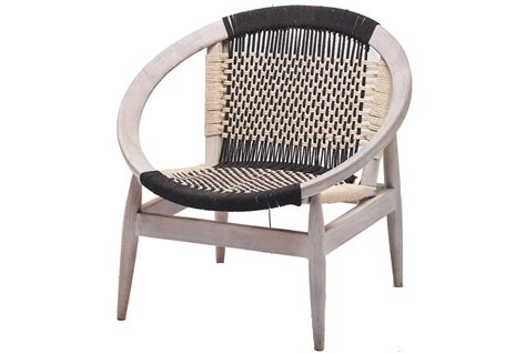 hand woven blue white rope chair living spaces
