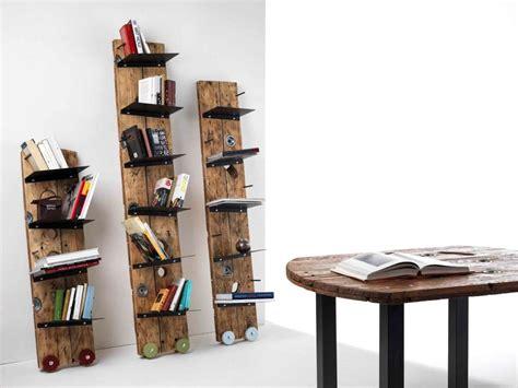 scaffali in legno componibili librerie con materiale di recupero foto 4 40 design mag