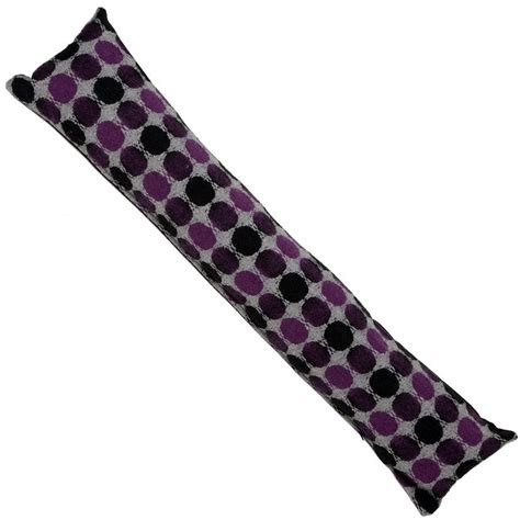 Door Draft Excluder Cushion by Home Door Draught Excluder Cushion Mauve Purple Spot