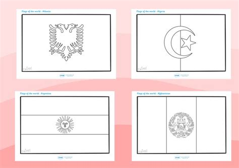flags of the world ks1 twinkl resources gt gt flags of the world colouring sheets