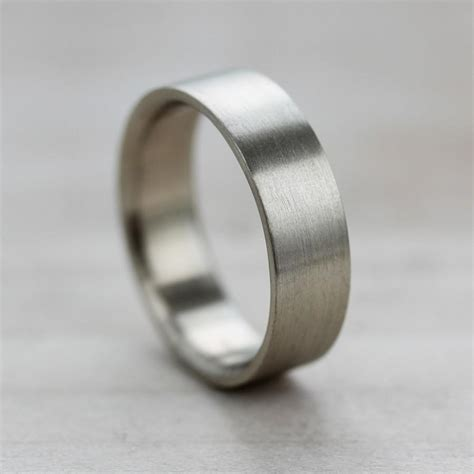 6x1 5mm comfort fit flat s wedding band recycled