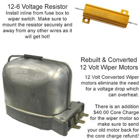 12v to 6v dropping resistor vw 6 to 12 volt conversion kit beetle 1961 to 1966 vw parts jbugs