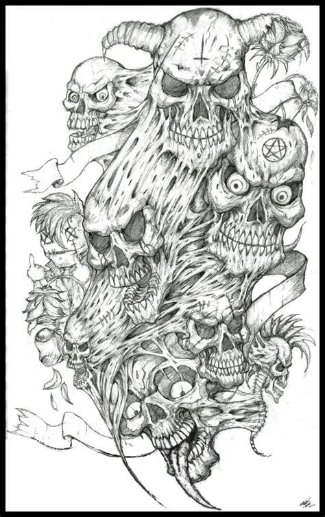 complex tattoo designs prison skull drawings www pixshark images