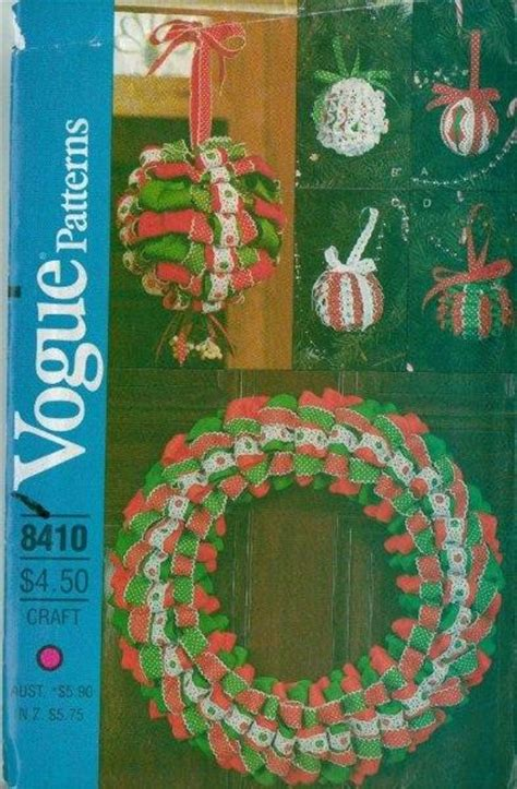 sewing patterns christmas crafts oop vogue sewing pattern christmas holiday decorations