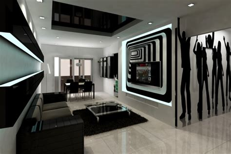 Modern Black And White Living Room by 20 Wonderful Black And White Living Room Designs