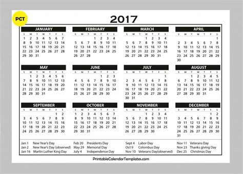 free yearly calendar template free printable calendar 2017 templates free printable
