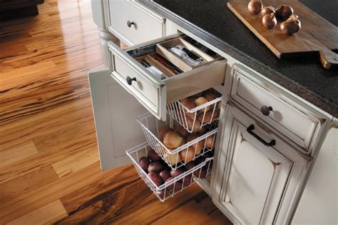Potato Drawer by Getting Organized With Fieldstone Cabinetry Traditional Kitchen Other Metro By Absolute