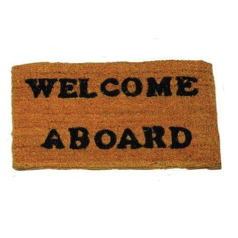 Welcome Aboard Mat welcome on board mat marine
