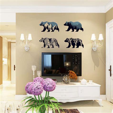 silhouette home decor polar bear silhouette room home decor removable wall