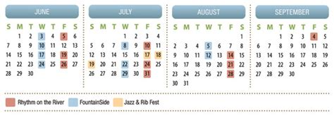 2015 Summer Calendar Save The Date 2015 Summer Dates Announced The Scioto Mile