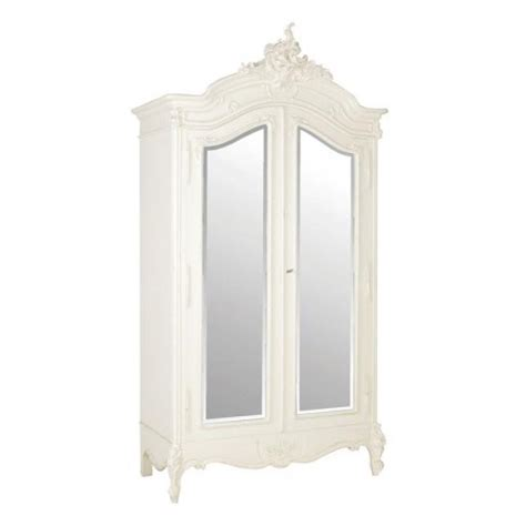 mirrored armoire wardrobe louis xv ivory ornate mirrored french double wardrobe