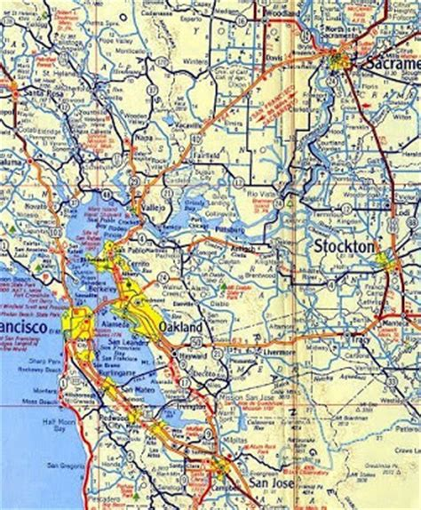 california road map with cities map of northern california area pictures california map