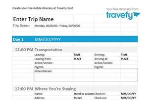 travel agenda template 30 itinerary templates travel vacation trip flight