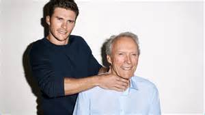 Pages of esquire scott playfully chokes his father clint eastwood