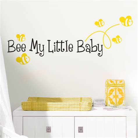 bee wall stickers bee my baby quote wall decals stickers graphics