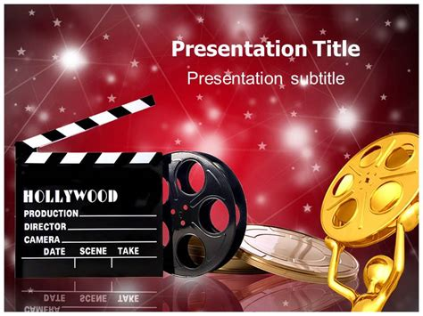 hollywood films powerpoint templates powerpoint