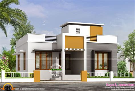 home design for ground floor 850 sq ft flat roof one floor home kerala home design