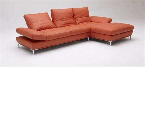 sectional sofa set dreamfurniture com dahlia 1307 orange sectional sofa set