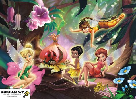Study Room For Kids by Shop Colorful Disney Fairies Mural For Living And Bedroom