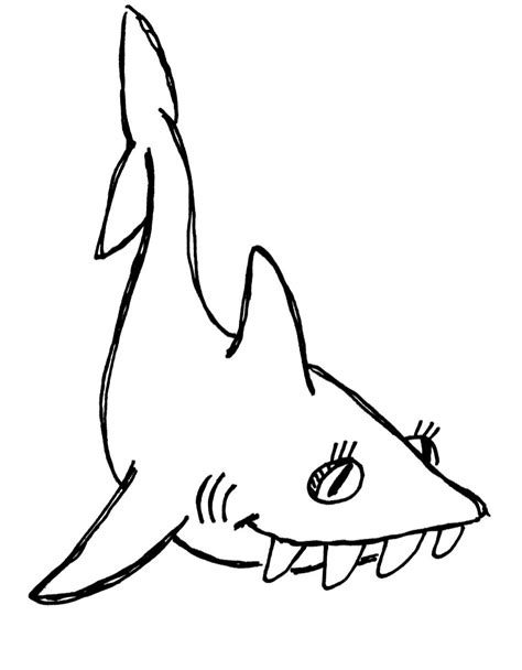shark face coloring page shark line art clipart best