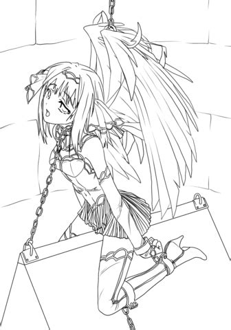 anime angel girl coloring pages anime slave angel coloring page free printable coloring